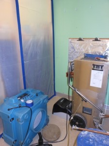 Water Damage Equipment and Vapor Barrier