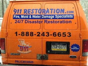 Fire Damage Restoration North New Jersey Van