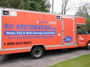 Water Damage Paterson Restoration Vehicle