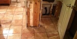 Water Damage Restoration In Bathroom