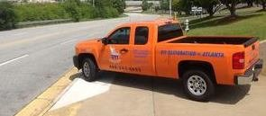 Water and Mold Damage Restoration Pickup Truck