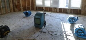 Water Damage Remediation In Living Room